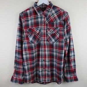 Volcom Workwear Snap Button Flannel Shirt